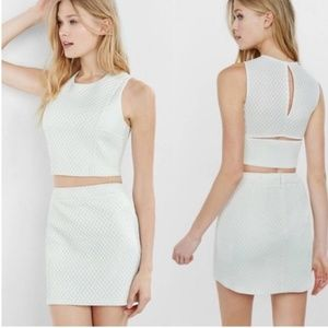 Express | White Two Piece Top and Skirt